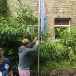 Die Fahne wird gehisst