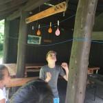 Luftballon + Zahnstocher